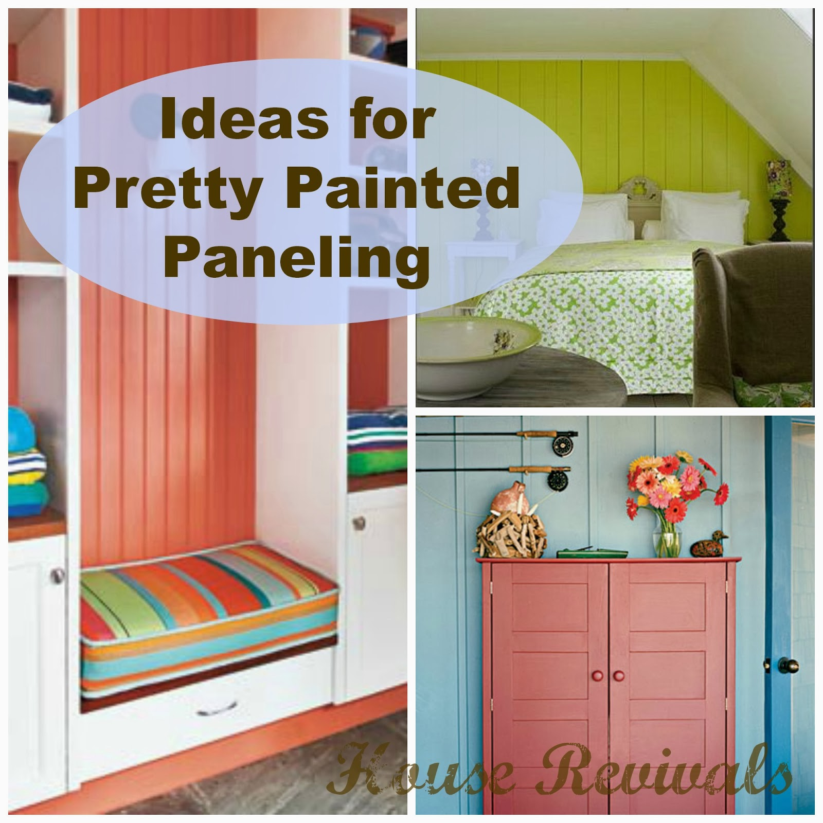 What Color To Paint Paneling House Revivals Colorful Painted Paneling