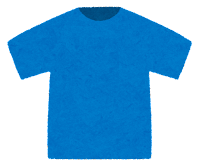 Tシャツのイラスト(青)