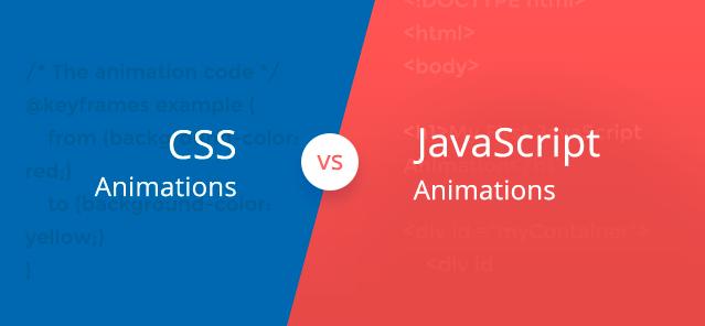 javascript versus css animations