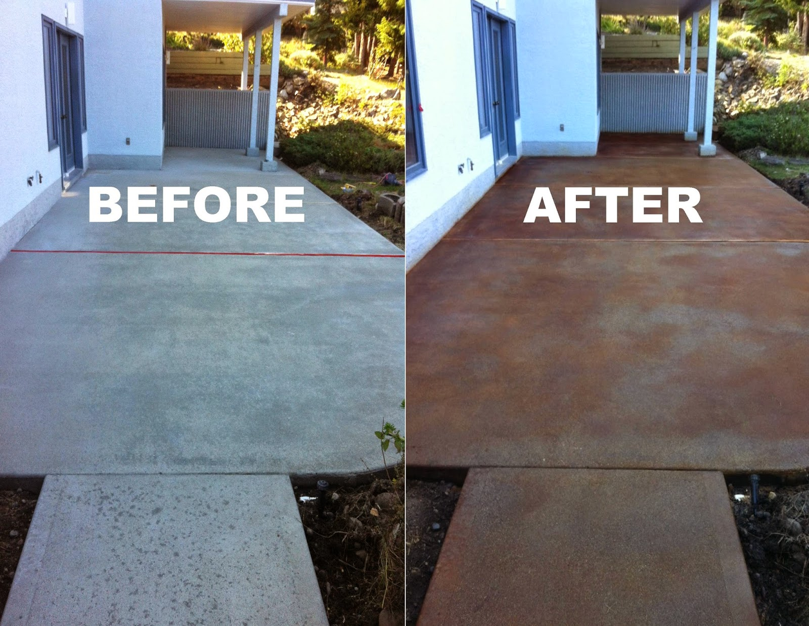 Mode concrete concrete maintenance repair acid staining for Acid wash concrete patio