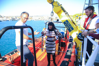 Stephanie Linus visits rescue ship 'Aquarius' in Italy as She advocates against Human Trafficking 7