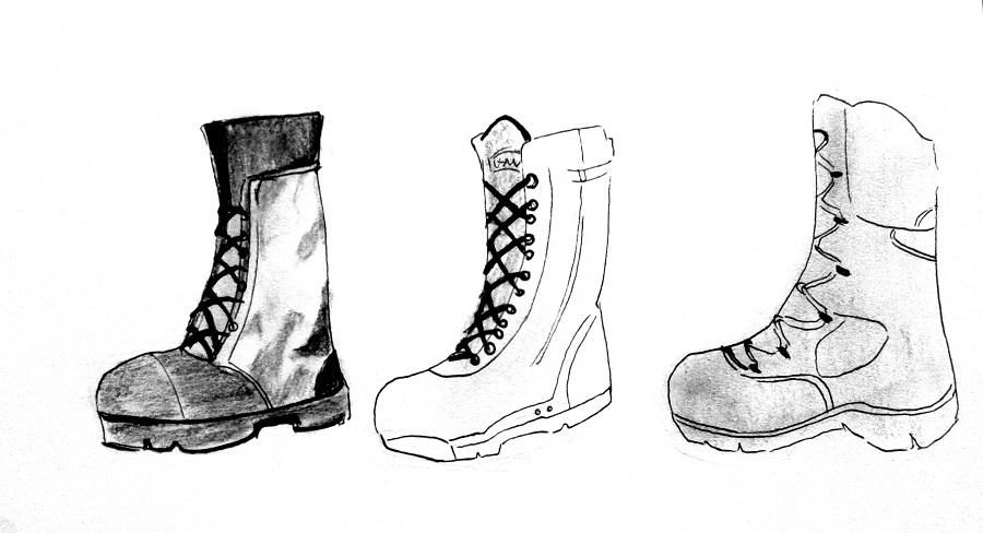 Cara Menggambar Army Uniform Mayagami