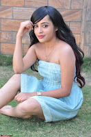 Sahana New cute Telugu Actress in Sky Blue Small Sleeveless Dress ~  Exclusive Galleries 056.jpg