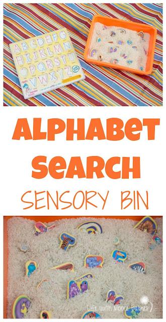 Alphabet Search Sensory Bin: a Fun Way to Learn Letters