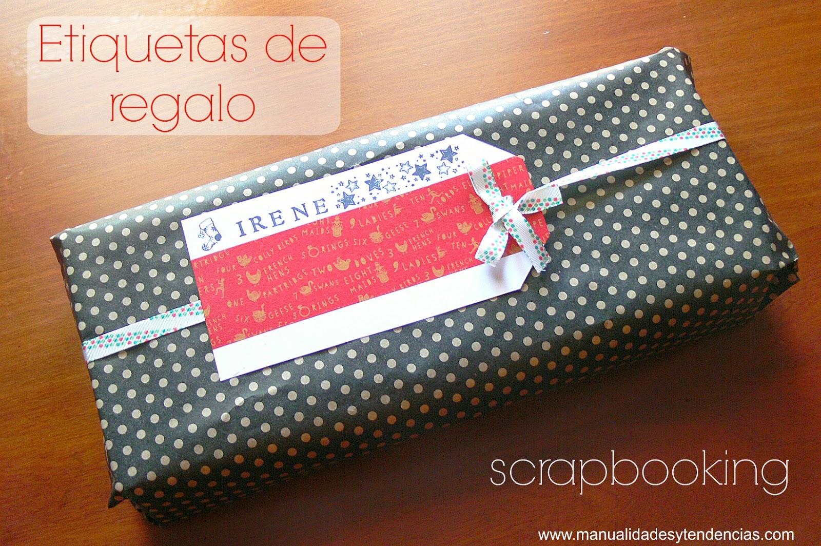 Etiquetas de regalo hechas a mano scrapbooking