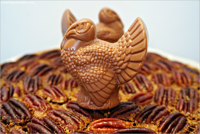 Chocolate Bourbon Pecan Pie con Pavo de Chocolate de Lake Champlain
