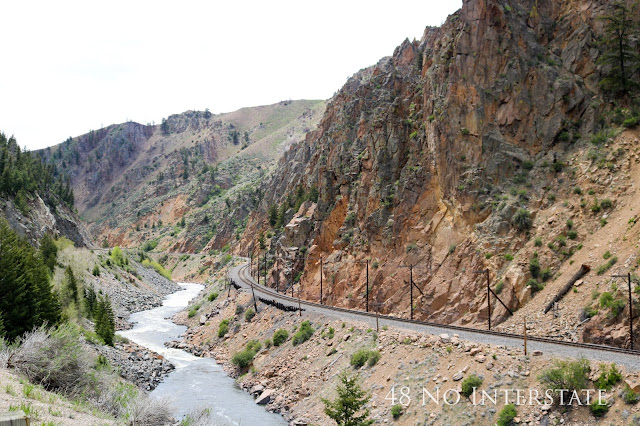 48 No Interstate back roads cross country coast-to-coast road trip Amtrack tracks Colorado River California Zephyr