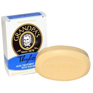 صابونه لتنظيف الوجه Grandpa's, Thylox, Acne Treatment Soap with Sulfur, 3.25 oz