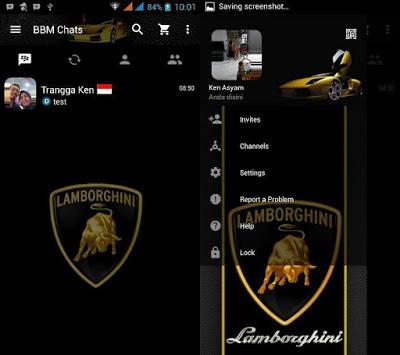 BBM MOD Tema Lamborghini v3.0.0.18 Apk Terbaru