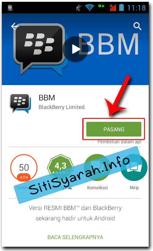 Setting BBM Android