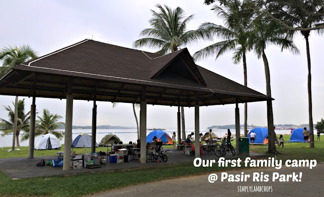 9 families camping at Pasir Ris Park.