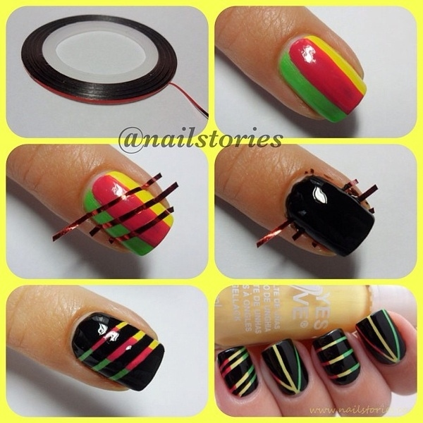 Paint Me Chic: Nail Art Designs Using Scotch Tape!