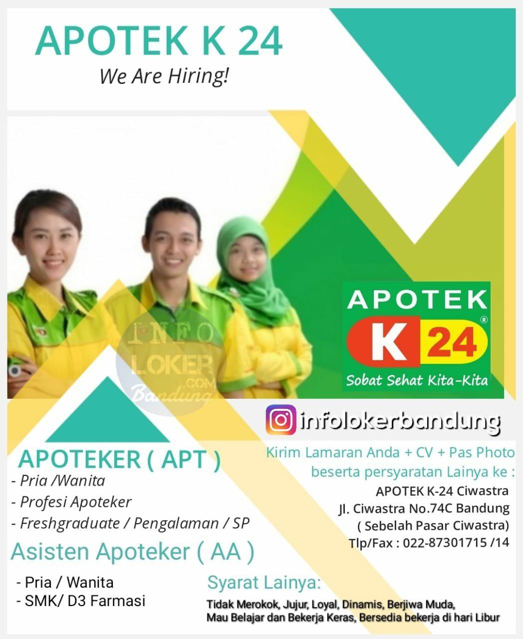 Lowongan Kerja Apotek K 24 Ciwastra Bandung Juni 2018