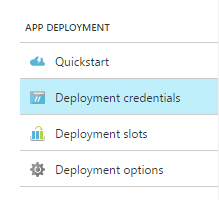 Azure Deployment Settings