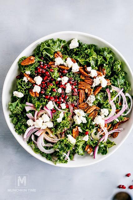 chia pomegranate kale salad