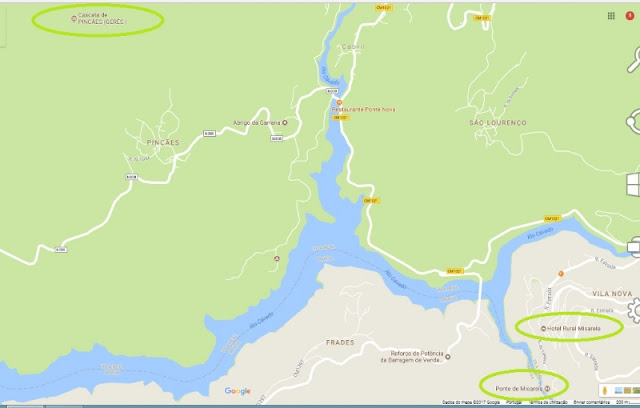 mapa do parque do gerês
