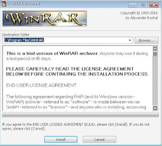 Download winrar (32,64 bit) to compress and unzip files