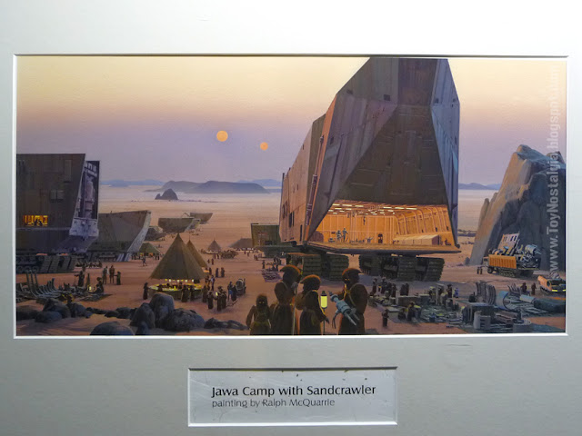 """Tatooine Jawa Camp Ralph McQuarrie  """"Episode IV  - A New Hope"""" (STAR WARS - The Exhibition)"""
