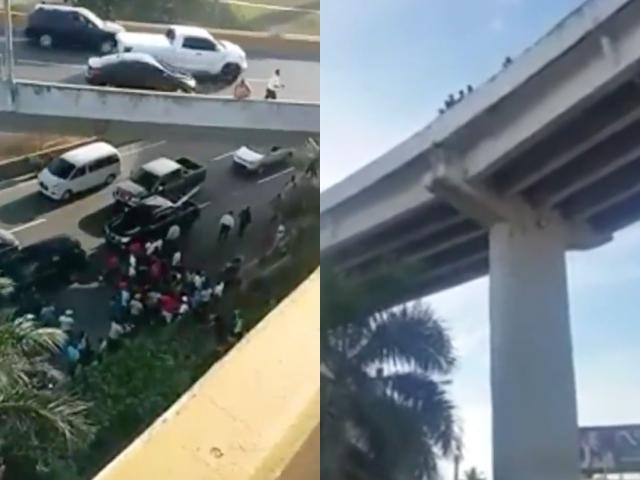 Video: Joven cae de elevado tras sufrir accidente