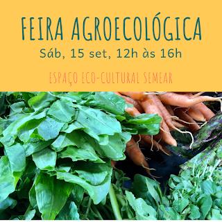 15 set, 12h às 16h: Feira Agroecológica