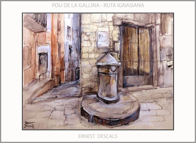 POU DE LA GALLINA-PINTURA-MANRESA-RUTA IGNASIANA-SANT IGNASI DE LOIOLA-MIRACLES-PINTURES-ARTISTA-PINTOR-ERNEST DESCALS-