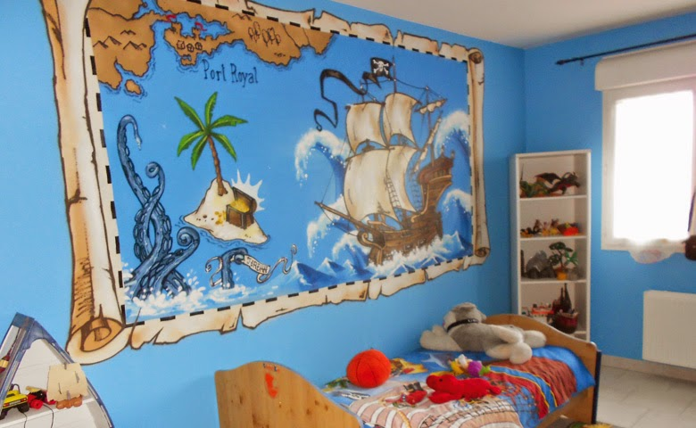 decoración dormitorio tema piratas
