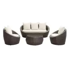 Outdoor Furniture, Wicker Sofa Sets, Wicker Outdoor Furniture, LexMod Avo Outdoor Wicker Patio 4 Piece Sofa Set