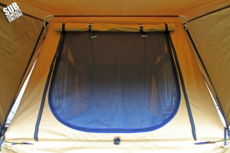 Tent screen closed