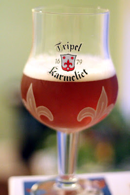 A tulip of dry hopped funky tripel.