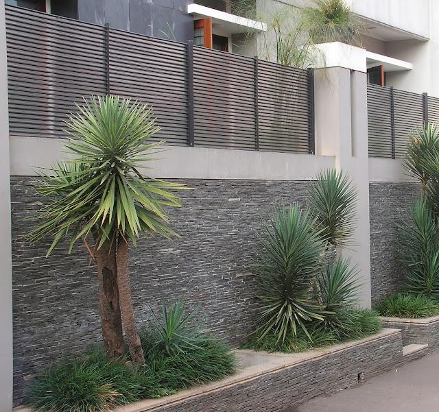 Model Pagar Tembok Rumah Minimalis
