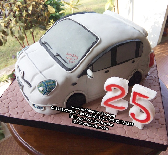 Kue Tart 3D Fondant Honda Jazz