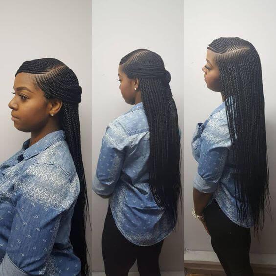 37 Cornrow Lemonade Braid Hairstyles 2018 African Cornrow Styles