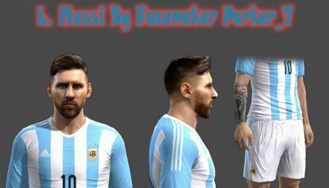 L. Messi Face (Argentina) PES 2013