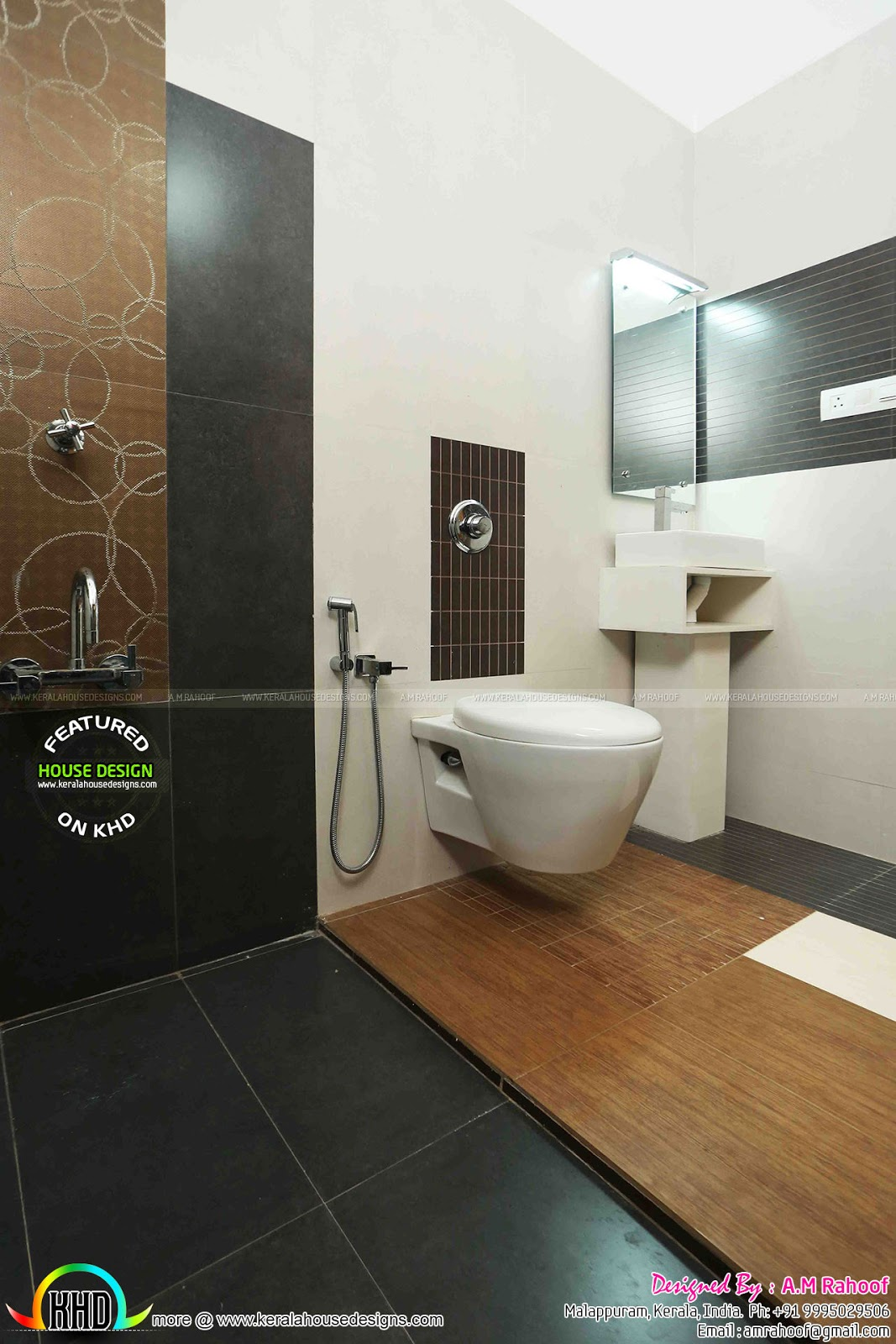 Finished house project in kerala home design simple for Bathroom ideas kerala
