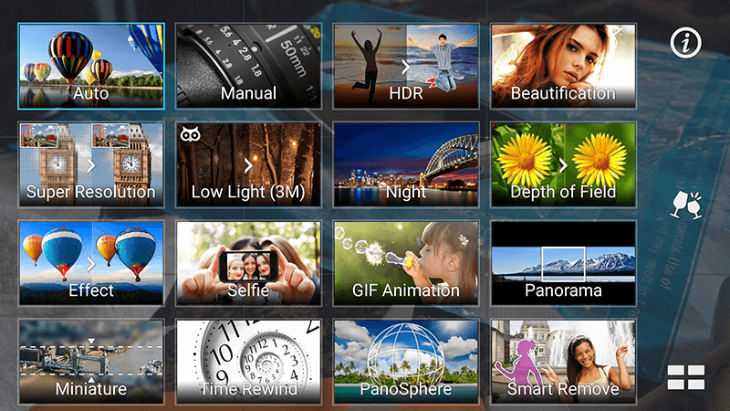 Rear camera options