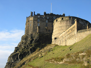World Heritage Edinburgh Castle in Scotland