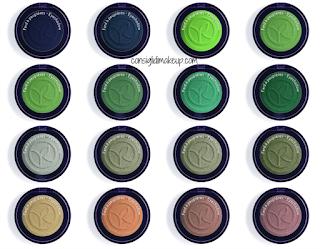 Preview Ombretti Fard Colore Vegetale Yves Rocher colori verdi e metellici
