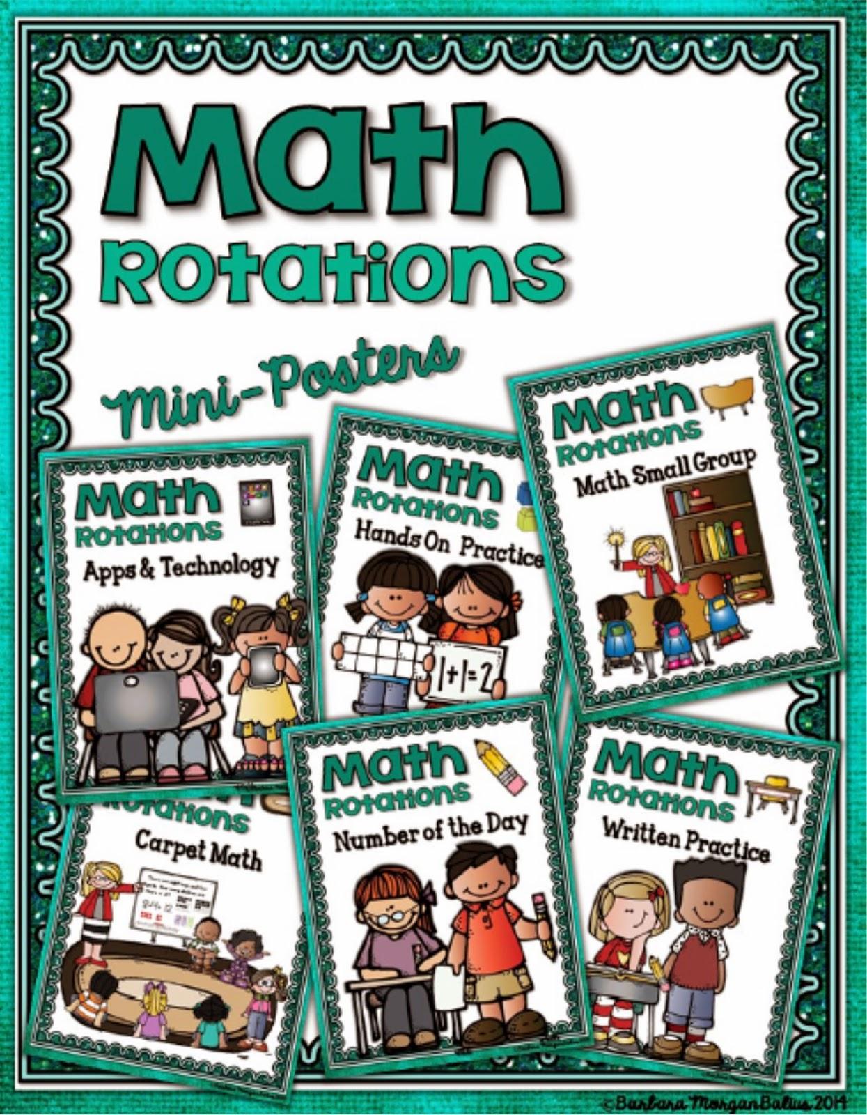 Math Rotations Mini-Posters
