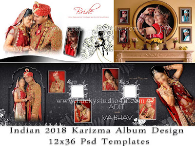 indian 2018 karizma album design 12x36 psd templates