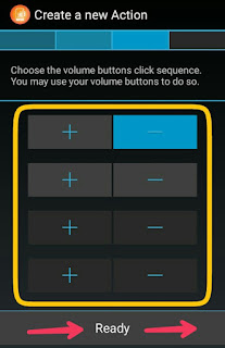 Select volume key