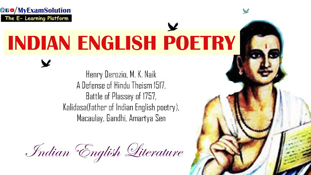 Indian English Poetry, british indian poetry, english poetry, myexamsolution
