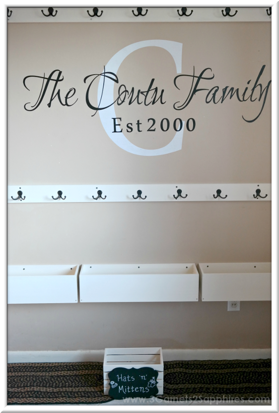 Easy DIY Wall-Mounted Shoe Organizer |  3 Garnets & 2 Sapphires