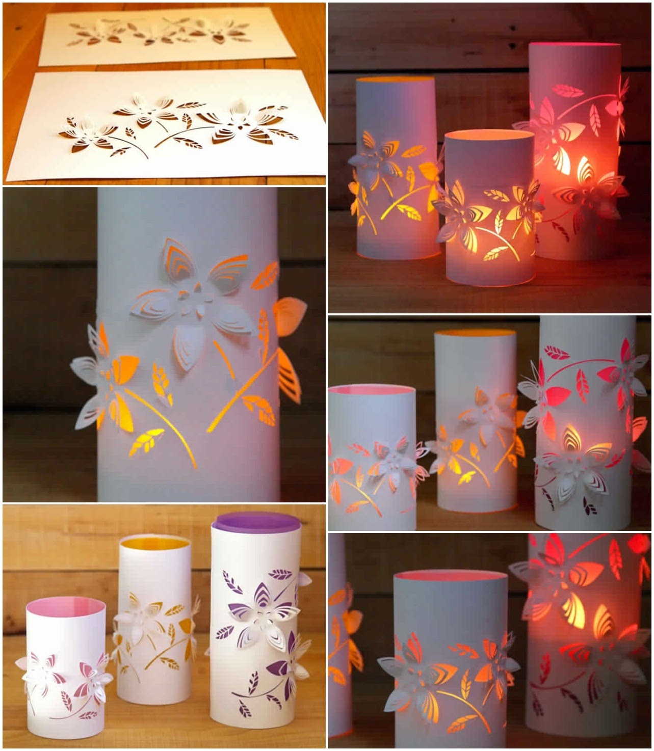 DIY IDEAS DIY Dimensional Paper Lanterns