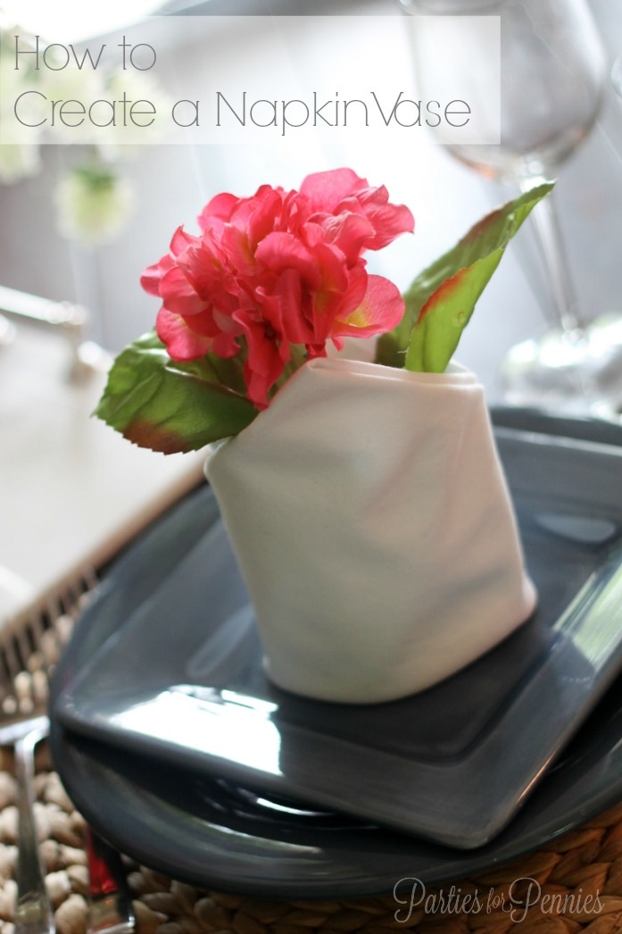 How to Create a Napkin Vase