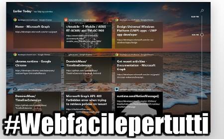 Windows Timeline Support | Estensione che porta il supporto della Timeline e Ripresa attività su Chrome e Firefox