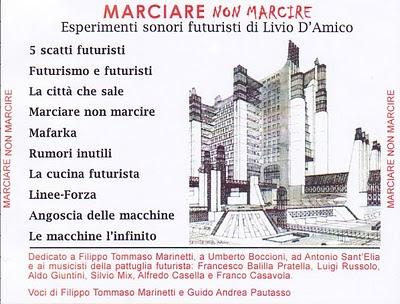 CUCINA FUTURISTA Il cd di Livio DAmico MARCIARE NON