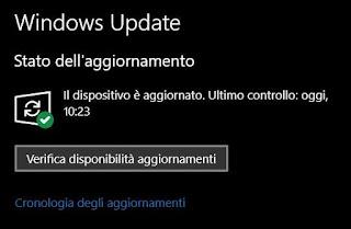 controllare aggiornamenti windows