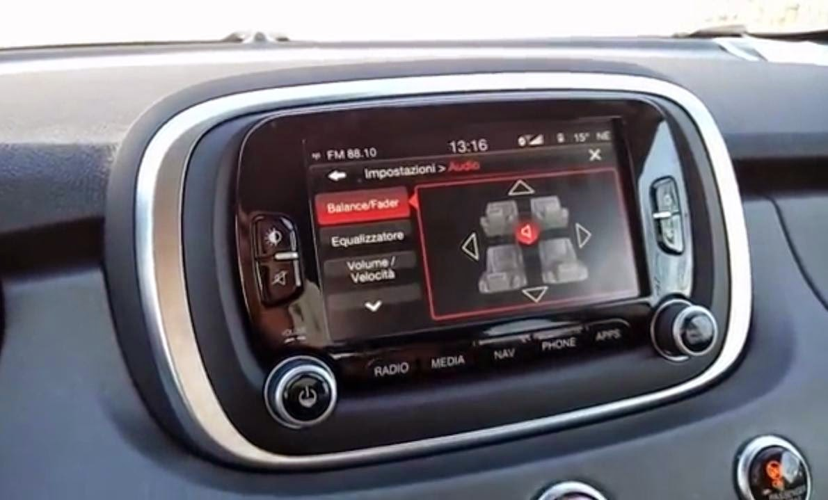 fiat 500x video descrizione menu infotainment uconnect. Black Bedroom Furniture Sets. Home Design Ideas
