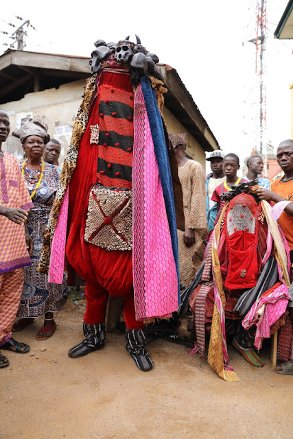 Osogbo, the two Egunguns opening the festival