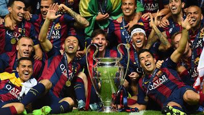 Barcelona 10 Besar Rangking Klub UEFA 2014/15